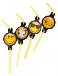 8 Smiley Emoticons™ sugrör
