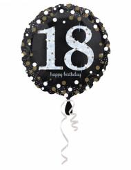 Aluminium ballong - 18 år Happy Birthday