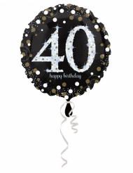 Happy Birthday 40-åringen - Aluminium ballong 45 cm