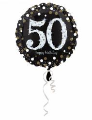 Happy Birthday 50-åringen - Aluminium ballong 45 cm
