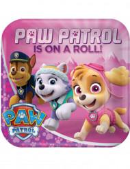 8 Paw Patrol™ kartongtallrikar i rosa