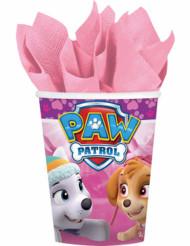 8 kartongmuggar i rosa ton från Paw Patrol™ 266 ml