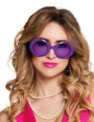Lila discoglasögon