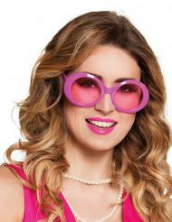 Rosa discoglasögon