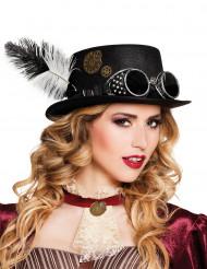 Steampunkig hatt med glasögon och kugghjul