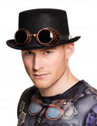 Flygarglasögon och hatt i Steampunk-stil till maskeraden