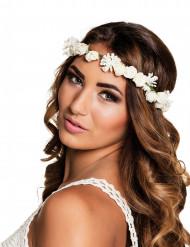 Blomkrans med vita blommor för vuxna