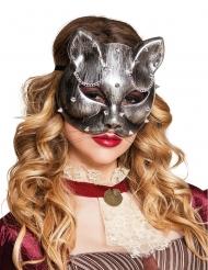 Kattmask i Steampunk-stil till maskeraden