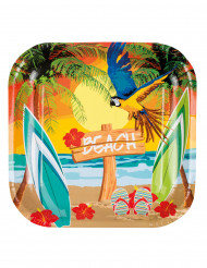 6 Beach Party tallrikar 23 cm