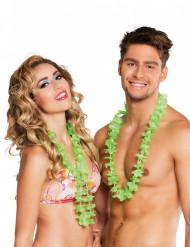 25 gröna blomhalsband i Hawaii-stil