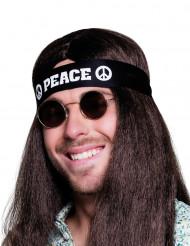 Svart Peace-pannband för vuxna