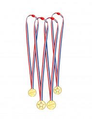 4 Mini-medaljer trikoloren