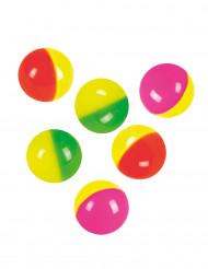 6 studsbollar i många färger 3 cm
