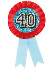 Holografisk badge till 40-åringen