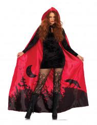 Lyxig mantel i rött till Halloween - Maskeradtillbehör