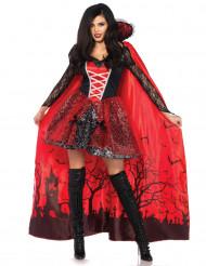 Förförisk vampyr med mantel - Halloweenkostym för vuxna