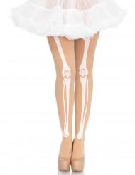 Skelettspiror - Strumpbyxor till Halloweenfesten