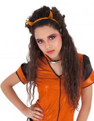 Orangea glitterhorn - Djävulskit för Halloween
