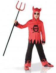 Djävul med monster på magen - Halloweenkostym för barn