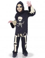 Skelttdräkt med ögon som rör sig - Halloweenkostym för barn