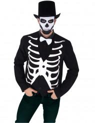 Väst med skelettryck - Halloweenkostym för vuxna