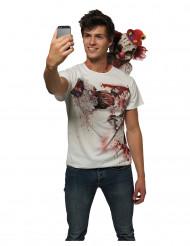 Skräckclown selfie t-shirt till Halloween