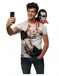 Selfie t-shirt med Dracula - Halloweenkostym förvuxna