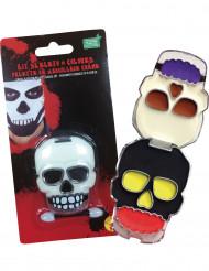 Dödskalle - Sminkkit till Halloween