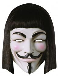 Kartong mask från V för Vandetta™ för vuxna
