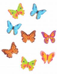 Magiska fjärilar - 8 tårtdekorationer 4 cm