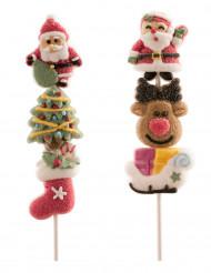 Marshmallow på spätt med julmotiv på måfå