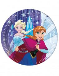 8 tallrikar från Frost™ med tryck av Anna & Elsa 23 cm