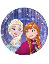 Frost™ - 8 små tallrikar med Anna & Elsa™ till kalaset