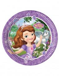 8 Prinsessan Sofia™-kartongtallrikar till kalaset 23cm