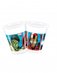 8 Avangers Mighty™ plastmuggar 200 ml