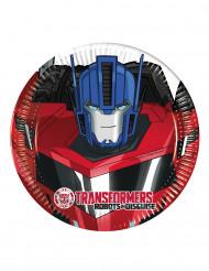 8 små Transformers RID™ kartongtallrikar 20 cm