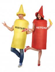 Senap & Ketchup - Pardräkt för vuxna