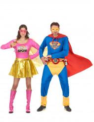 Super-Suparen och Alkoflickan pardräkt vuxen