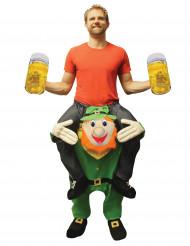 Morphsuits™ Carry Me leprechaun St. Patrick vuxendräkt