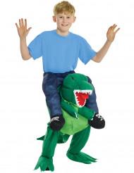 Rider på en dinosaurie - Carry me-dräkt för barn
