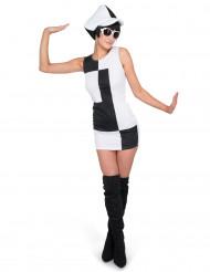 Blockfärgad klänning - Maskeraddräkt för vuxna