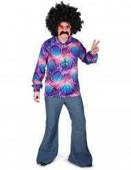 Psykadelisk discoskjorta - Maskeraddräkt för vuxna