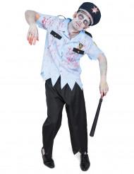 Poliskonstapel som blivit zombie - Halloweendräkt för vuxna