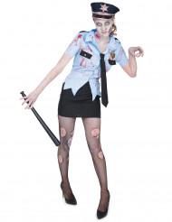 Poliskonstapel-Zombie - Halloweendräkt för vuxna