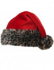 Lyxig tomteluva med fuskpäls för vuxna till jul