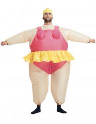 Uppblåsbar ballerinadräkt för vuxna till maskeraden