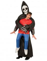 Uppblåsbar liemannen-dräkt för vuxna till Halloween