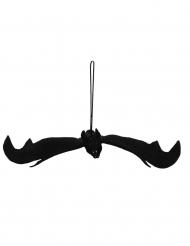 Svart fladdermus med röda ögon 54 x 26 cm - Halloweenprynt