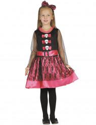 Söt skelettklänning för barn till Halloween