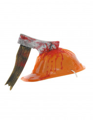 Blodig skyddshjälm - Huvudbonader för vuxna till Halloween